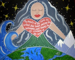 Gaia (Mother Earth); Acrylic on Canvas; For Sale