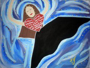 Martha Graham; acrylic on canvas; for sale