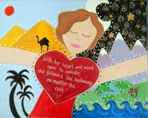 Freya Stark; Acrylic on Canvas; 16x20; $350